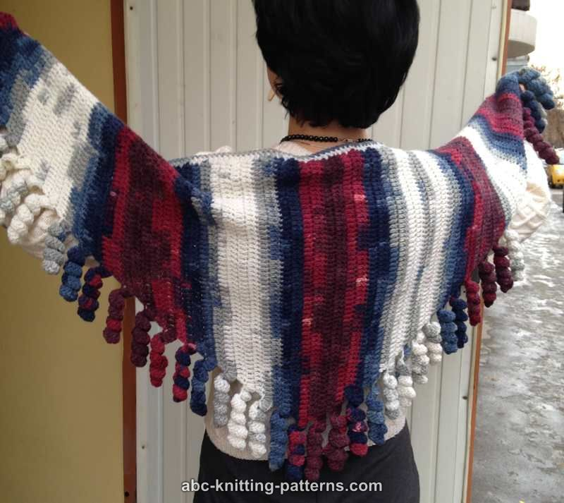 Abc Knitting Patterns Small Sideways Shawl With Corkscrew Fringe