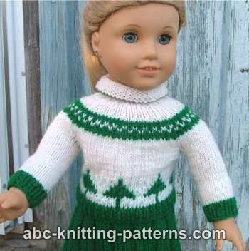 American Girl Doll Colorwork Sweater