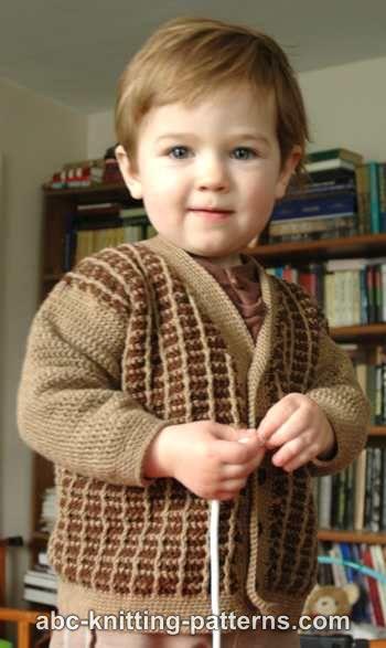 Young Gentleman Two-Tone Cardigan