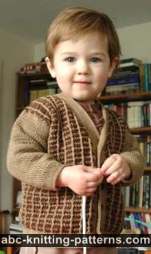 Young Gentleman Two-Tone Cardigan