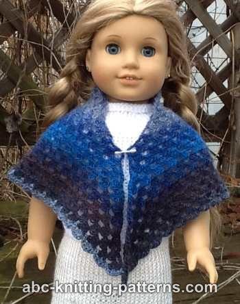 Crochet Patterns Galore - American Girl Doll Wisteria Chevron Dress | 444x350