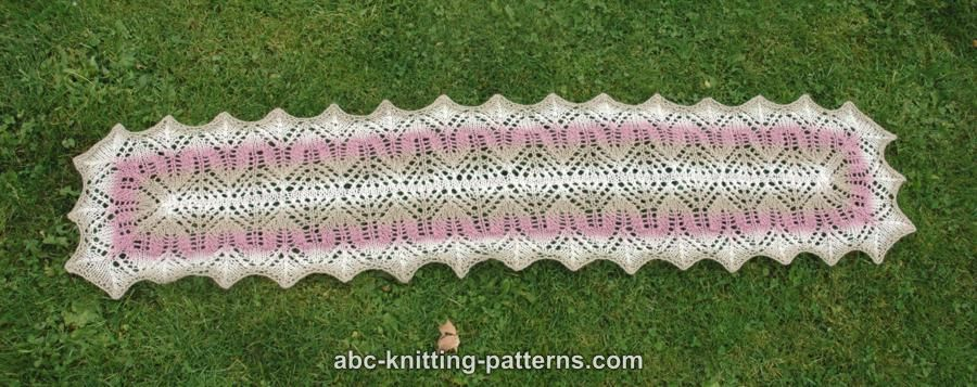 ABC Knitting Patterns - Rose Garden Lace Scarf