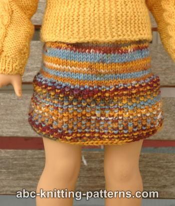 American Girl Doll Seed Stitch Skirt