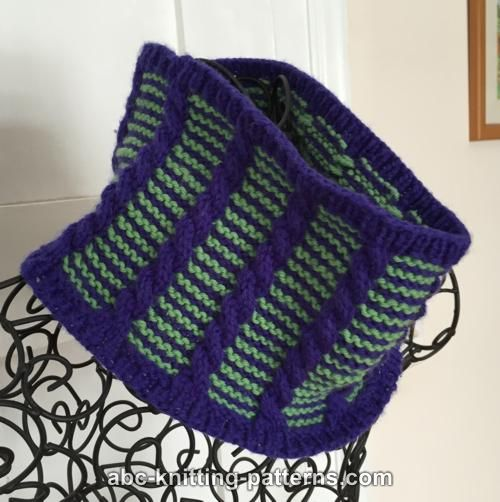 Abc Knitting Patterns Cute Cables Cowl