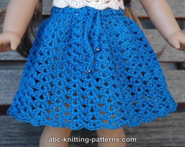 Abc Knitting Patterns American Girl Doll Seashell Summer Skirt