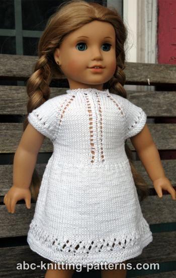 abc knitting patterns   american girl doll midsummer dress