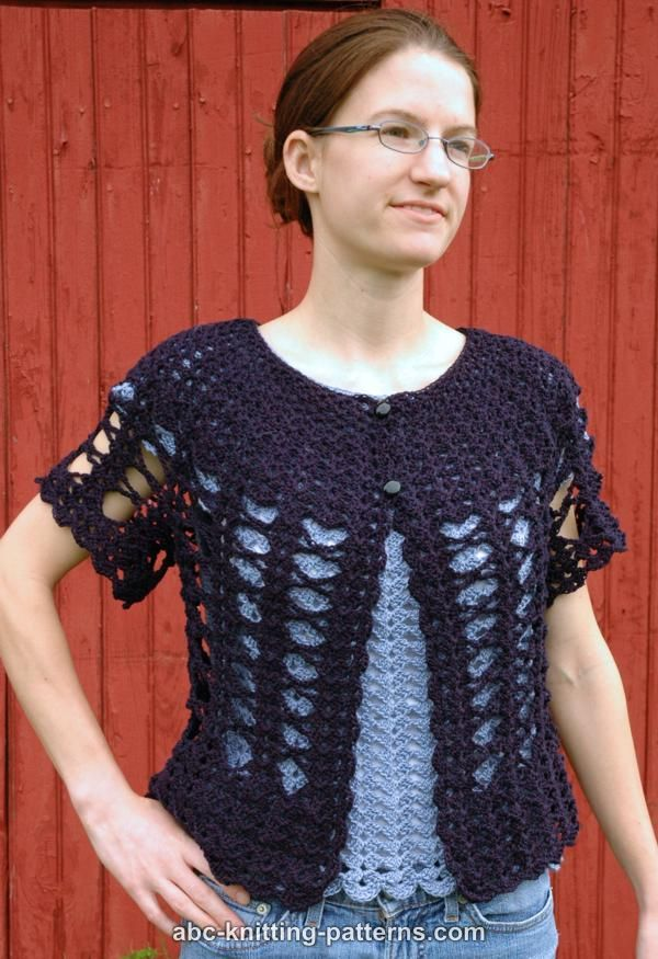 Abc Knitting Patterns Midsummer Night Lace Cardigan