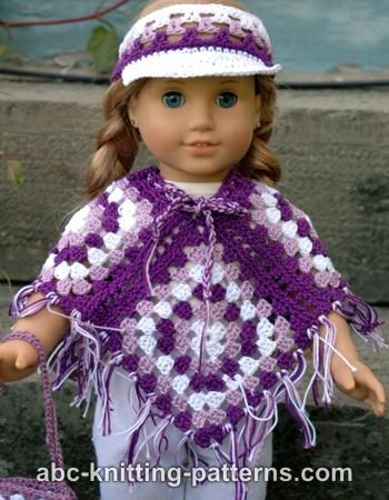 American Girl Doll Granny Square Poncho