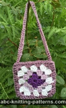 American Girl Doll Granny Square Bag