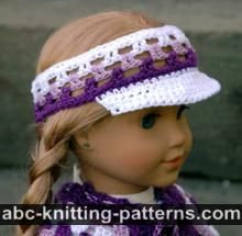 American Girl Doll Visor