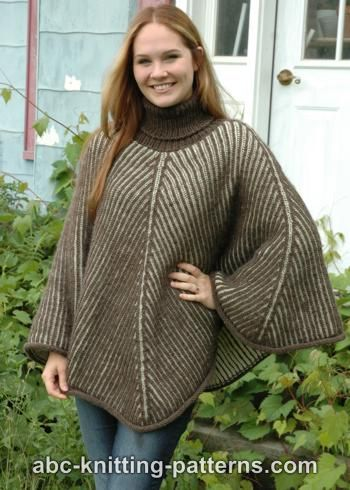 Abc Knitting Patterns Reversible Brioche Poncho