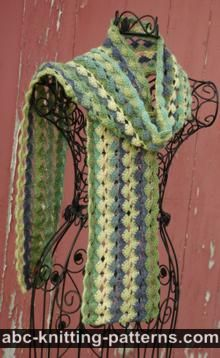 Abc Knitting Patterns : ABC Knitting Patterns - Crochet >> Scarves: 17 Free Patterns