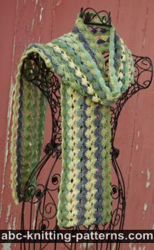 ABC Knitting Patterns - Crochet >> Scarves: 17 Free Patterns