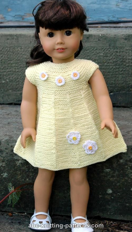 Knitting Patterns For American Doll Clothes : ABC Knitting Patterns - American Girl Doll Garter Stitch ...