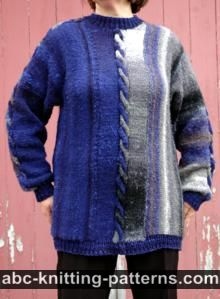 Night by the Fire Color Block Sweater