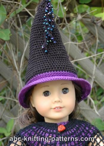 Abc Knitting Patterns American Girl Doll Witchs Hat
