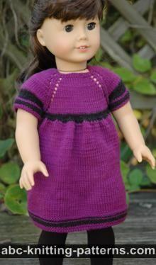 Abc Knitting Patterns American Girl Mini Doll Sundress