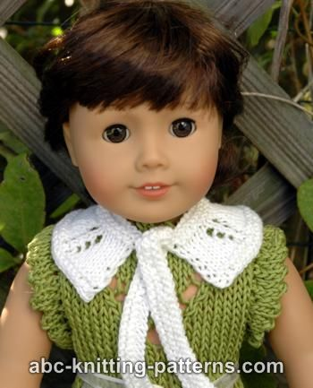American Girl Doll Knit Peter Pan Collar