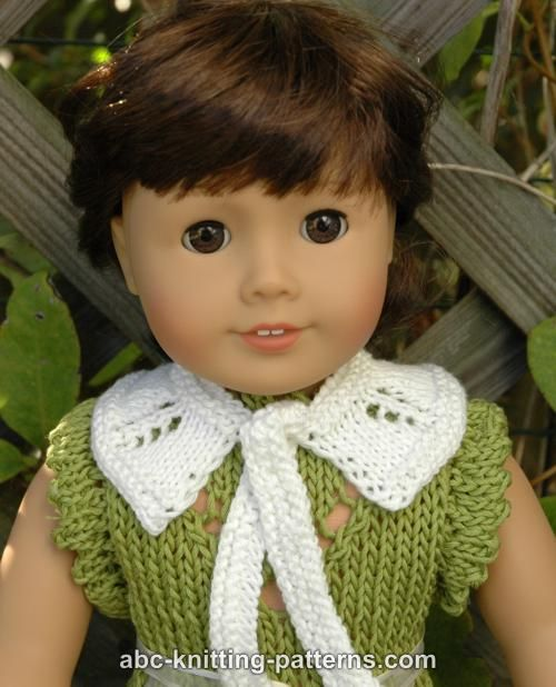 Easy Knitting Patterns For American Girl Dolls : ABC Knitting Patterns - American Girl Doll Knit Peter Pan ...