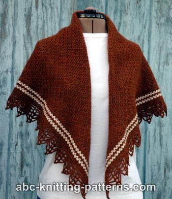 ABC Knitting Patterns - Pretty Stripe Shawl