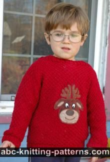Cuff-to-Cuff Children's Christmas Sweater