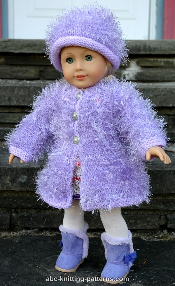 Abc Knitting Patterns For American Doll : ABC Knitting Patterns - American Girl Doll Fur Coat