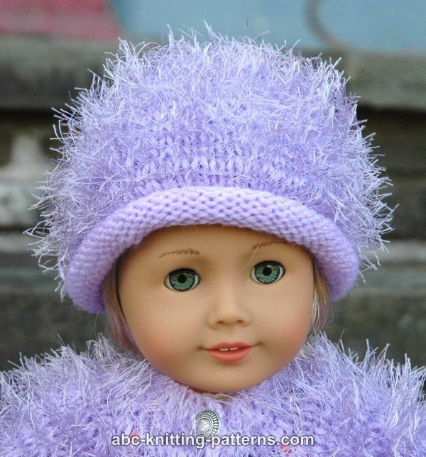 Free Knitting Pattern For Doll Hat : ABC Knitting Patterns - American Girl Doll Fur Hat