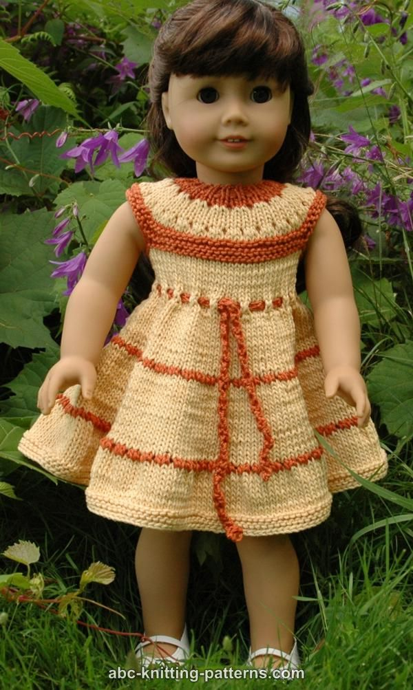 Knitting Patterns For American Doll Clothes : ABC Knitting Patterns - American Girl Doll Caramel Popcorn ...