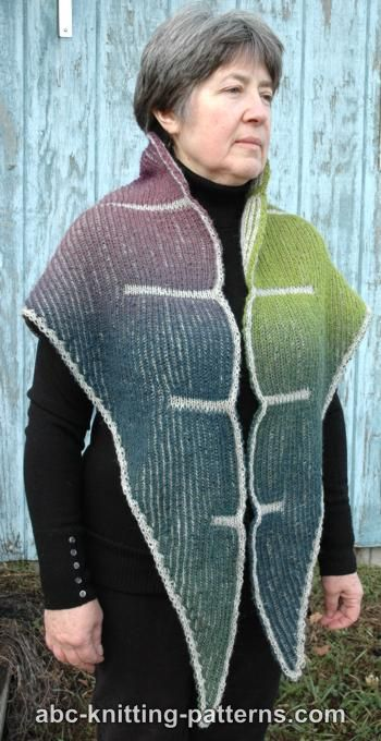 Cliffs of Dover Brioche Shawl