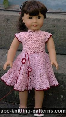 American Girl Doll Apple Blossom Dress