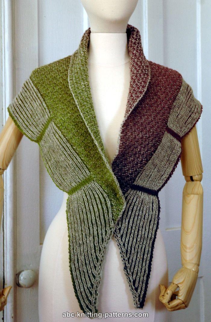 Abc Knitting Patterns La Riviera Shawl With Brioche Border