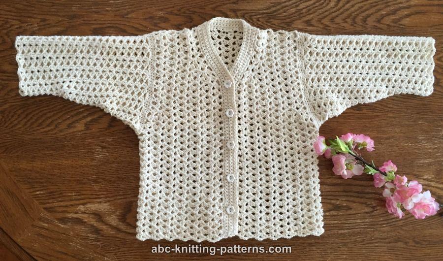 Abc Knitting Patterns Sweet Summer Baby Cardigan