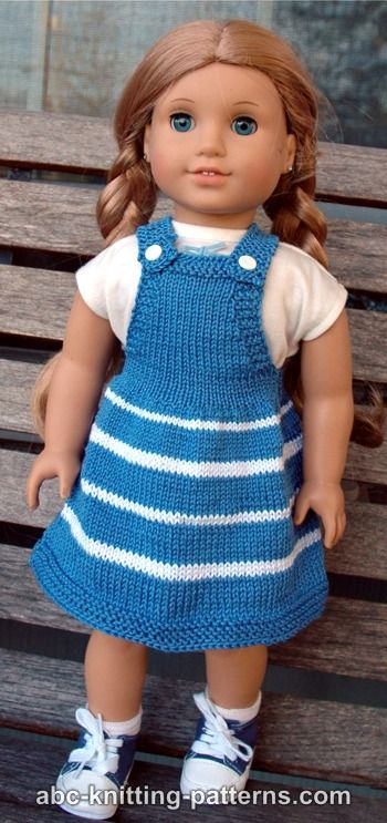 Abc Knitting Patterns American Girl Doll Fair Skies Jumper
