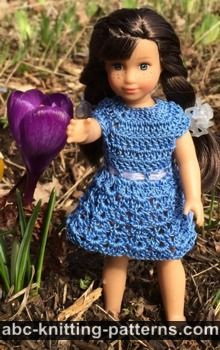 Basic Crochet Sundress for Mini American Girl Doll
