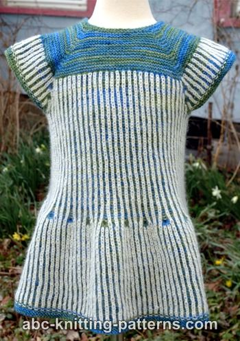 Abc Knitting Patterns Seamless Brioche Girl Dress