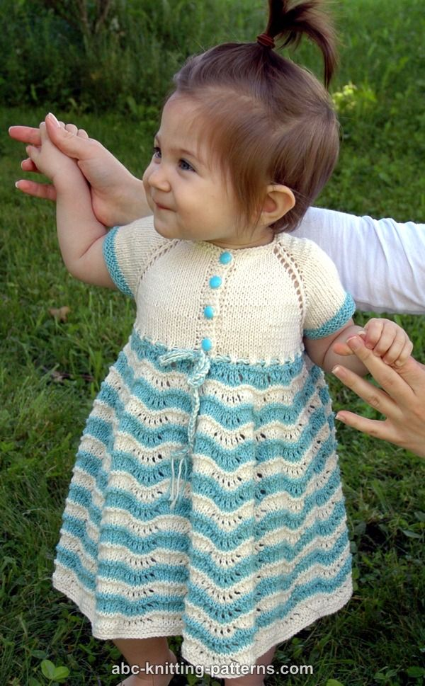 Baby Dress Free Knitting Pattern : ABC Knitting Patterns - Best Sunday Baby Dress