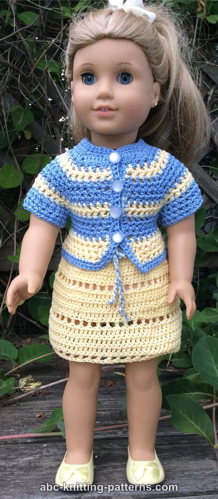 Abc Knitting Patterns American Girl Doll Elizabeth