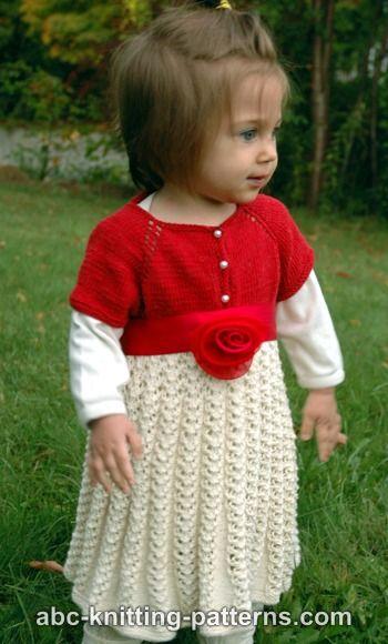 Abc Knitting Patterns Toddler Christmas Dress