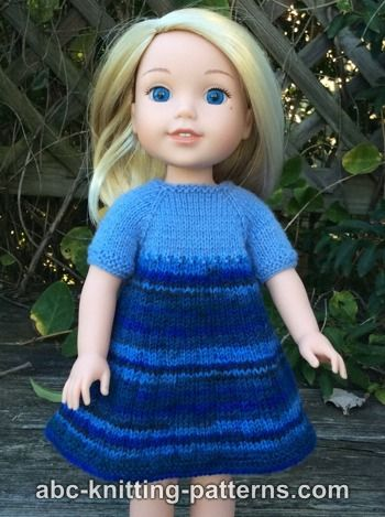 Wellie Wishers Doll Dress and Cardigan (14 inch doll)