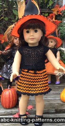 American Girl Doll Halloween Skirt and Top