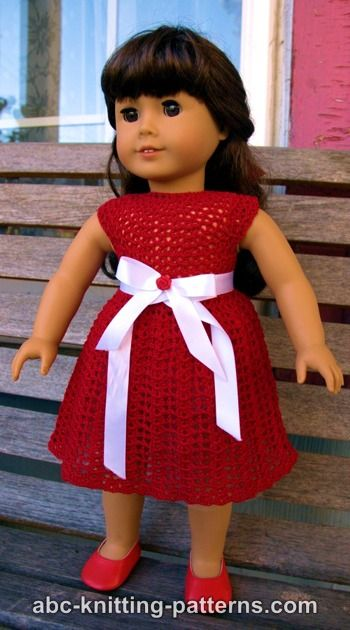American Girl Doll Christmas Dress with Tulle Underskirt and White Satin Belt