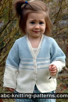 Easy Stripes Seamless Child Cardigan