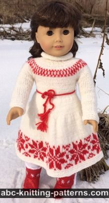 American Girl Doll Nordic Winter Dress