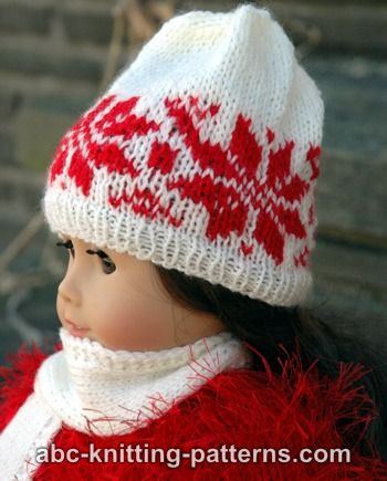 American Girl Doll Nordic Winter Hat