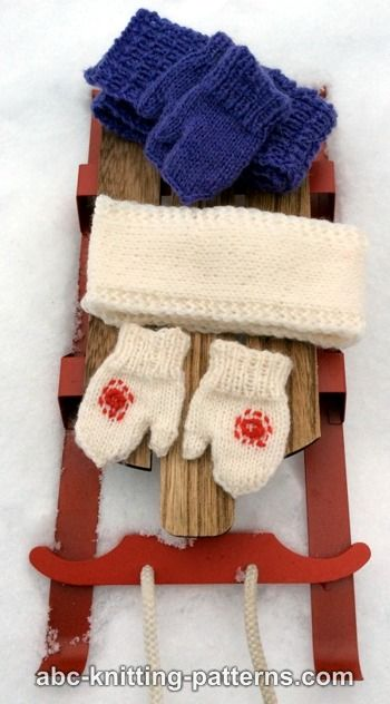 American Girl Doll Winter Fun Mittens and Scarves