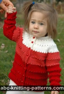 Sweetheart Child's Eyelet Cardigan