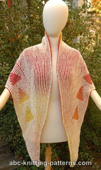 Abc Knitting Patterns Follow The Signs Brioche Shawl
