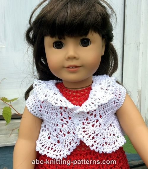 Abc Knitting Patterns American Girl Doll Vintage Lace Bolero