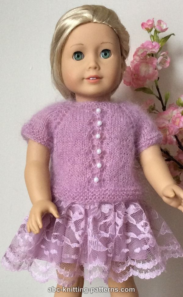 American Knitting Abbreviations Ssk : Abc knitting patterns american girl doll tuileries