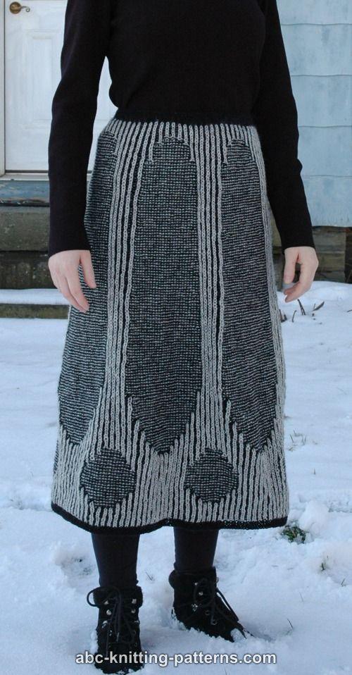 ABC Knitting Patterns - Country Manor Brioche Skirt